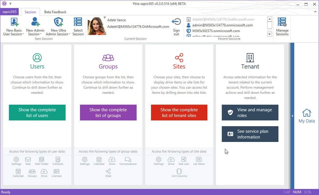Sapio365 - Administrace Office 365 a správa licencí pro administrátory Microsoft