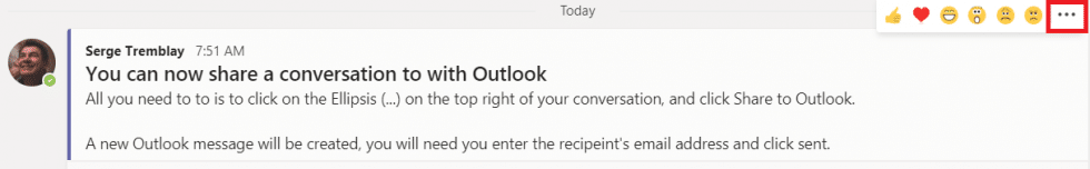 Teams Tip - Sdílení příspěvku v aplikaci Outlook